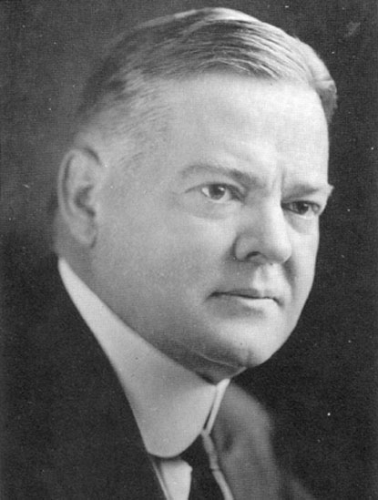 Herbert Hoover - President during the Stock Crash of 1929 & the Depression