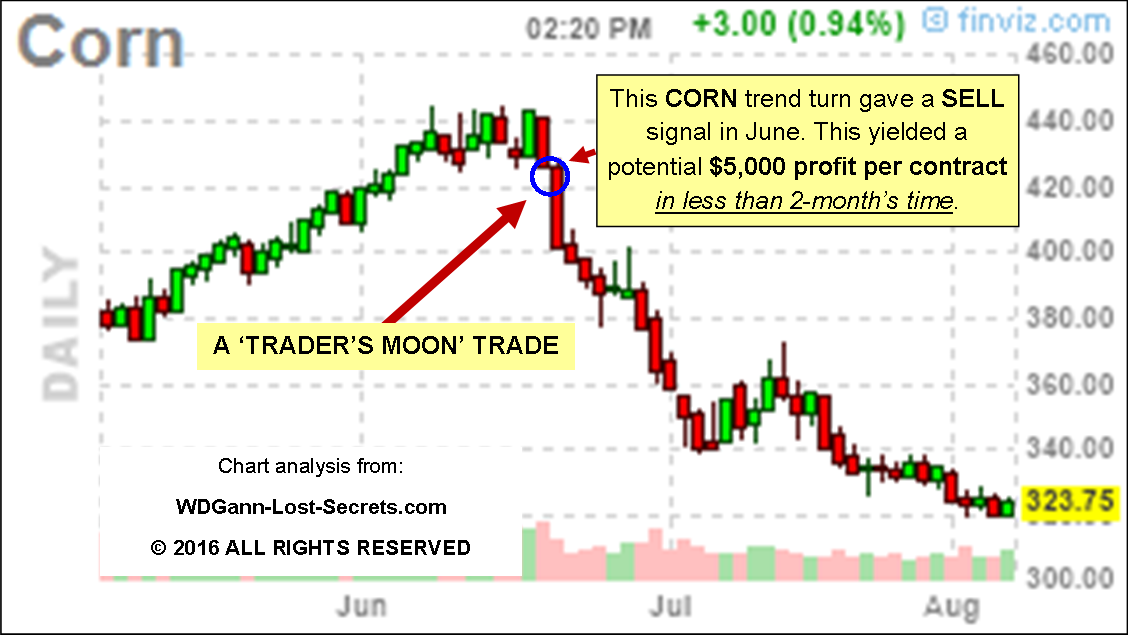 Trade corn options